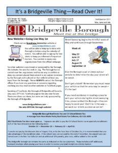 Budget Workshop Meeting @ Bridgeville Borough | Bridgeville | Pennsylvania | United States