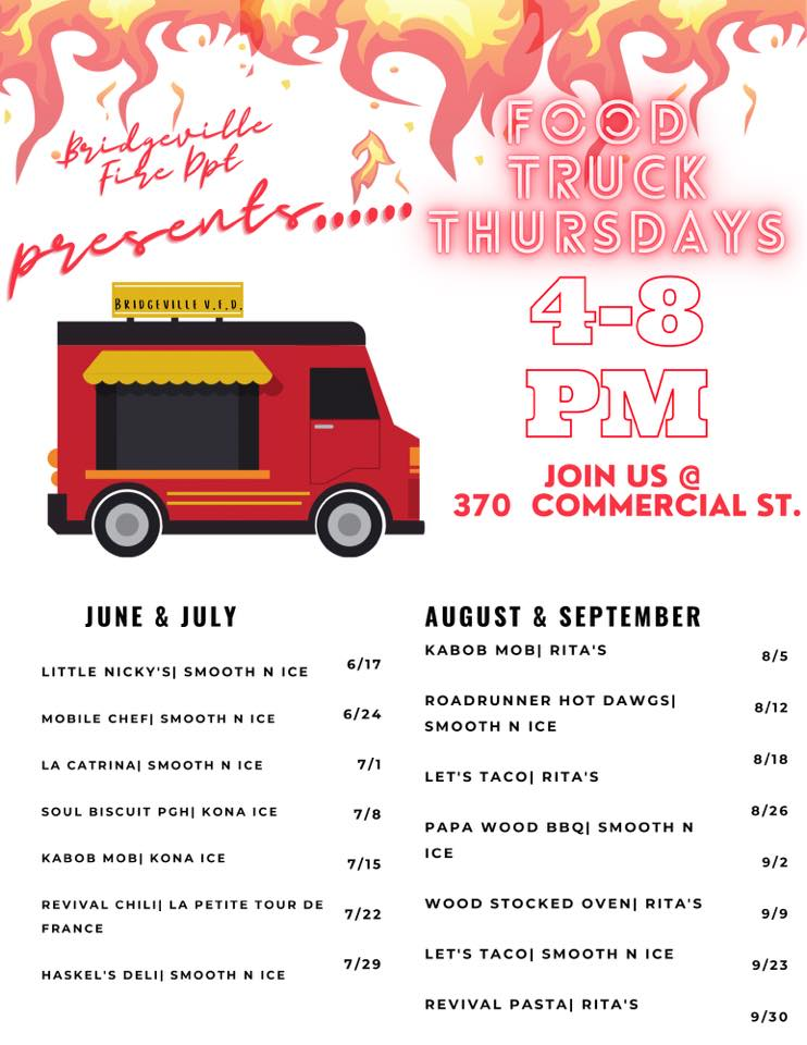 Food Truck Thursday @ BVFD on Commercial Street